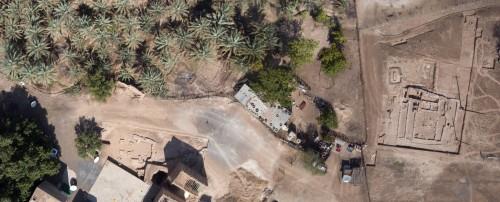 Fig. 6. Photo par cerf-volant des secteurs Masafi-1 (à droite) et Masafi-3 (à gauche). (Janvier 2011 ; Chiché : T. Sagory).