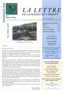 """La """"Lettre de l'AAMO"""" (janvier 2013)"""