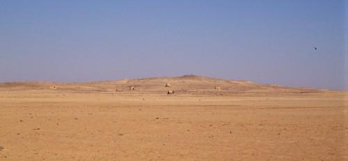 """Le site de Ragm al-Sawan, forteresse localisée à l'extrémité nord du """"Très Long Mur"""" (cliché Mission Marges arides)."""