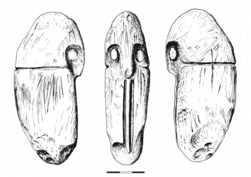 Fig. 4 Rapace nocturne ou tête humaine, phase IIIA Mureybet (Stordeur et Lebreton 2008).
