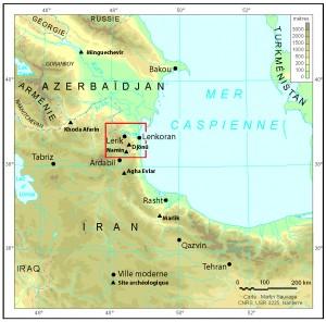 Fig. 1 : Carte générale de localisation. ©Mission du Lenkoran