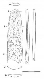 Fig. 5. Grattoir sur lame de côte (niveau 4). Échelle : 3 cm.