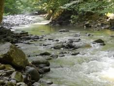 Fig. 5 : Fig. 7 : la rivière Lakerçay à Kravéladi. ©Mission du Lenkoran