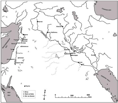 Régions sous contrôle assyrien au Levant.
