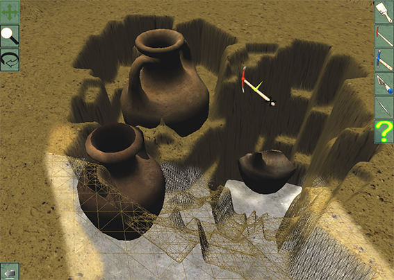 Le simulateur d'archéologie de Truelles & Pixels.