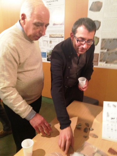Fig. 6: Discussion and activities during the Conference (Left to right: Ruben Badalyan & Giulio Palumbi).