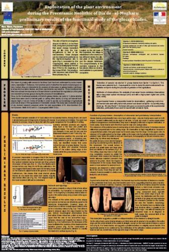 """Le poster de Fiona Pinchon présenté lors de la session """"Traceological research and experimental work""""."""