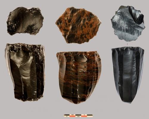 Fig. 2 : Nucleus en obsidienne d'Aknashen-Khatunarkh