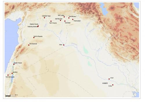 Fig. 1 : Carte des sites mentionnés