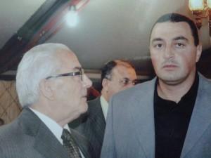 Khaled Asaad et son fils Omar (archive de la famille Asaad)