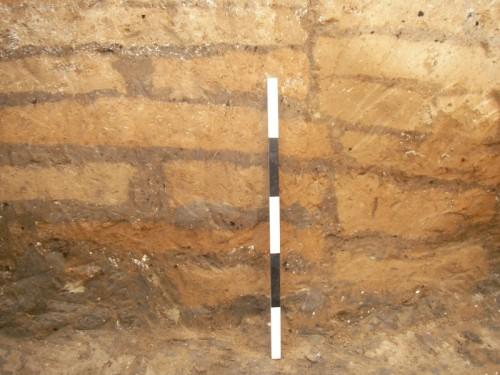 Fig. 2 - Çatal Höyük : mur en briques (Çatal Höyük image collection : photo 20070728_143111.jpg)