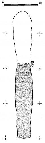 Fig. 7. Al Madam. Recreusement du falaj AM-2 (hauteur finale 4m), pour compenser la baisse de la source d'eau, al Madam, .E.A.U. (Córdoba 2013 : fig. 5).