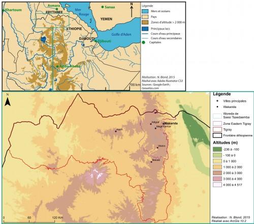 Figure 1 - Carte de localisation de Wakarida. © Ninon Blond, 2015