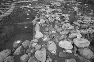 Fig. 11 : secteur N, mur de fortification.