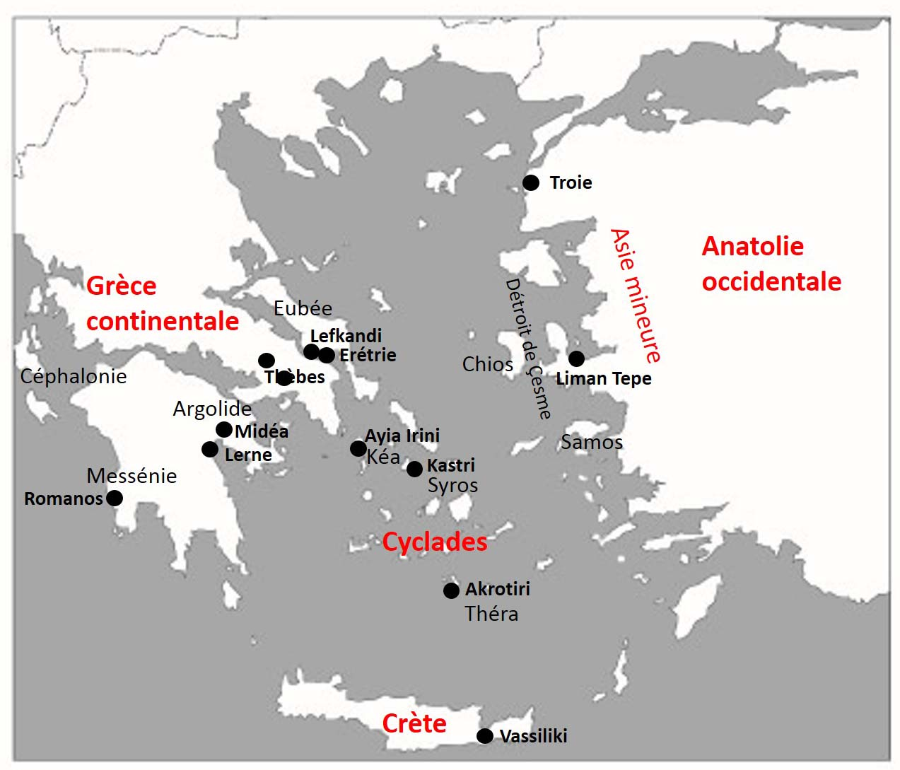 Carte Grece Crete Cyclades.Une Approche Ceramologique Des Relations Egee Anatolie Au 3e