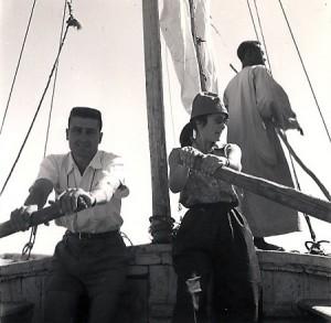 A. et J. Hesse lors d'une traversée du Nil