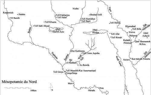 Fig. 2 : Carte de la région de Qasr Shemamok (© Mission archéologique Qasr Shemamok)
