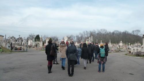 Fig. 4 : Visite matinale au cimetière de Loyasse (photo B. Chamel)