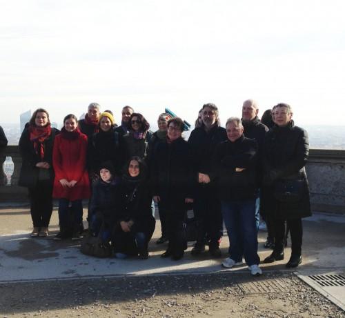 Fig. 6 : Photo de groupe des participants à la journée d'excursion du samedi (photo M. Poulmarc'h)