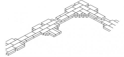 Fig. 7 : Appareil complexe. Tépé Gawra (Iraq). Période d'Obeid, vers 4000 av. J.-C. (d'après Sauvage 1998, pl. 7a p. 397).