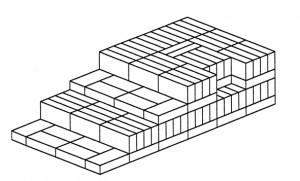 Fig. 16 : Šuruppak (Fara, Iraq), FH, maison c-a, fin de la période Protodynastique (dessin M. Sauvage)