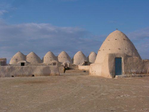 Fig. 7 - Village d'Al-Hamam, dans la steppe d Syrie (M.-O. Rousset, Mission marges arides, MAEDI)
