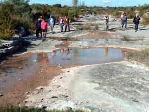 Fig. 8 : Visite du stratotype du Berriasien (Photo Jean Férole)