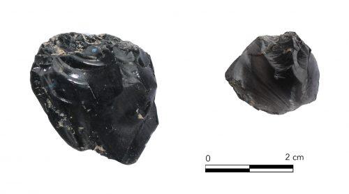Fig. 15 : Pièces esquillées. © Mission Caucase.